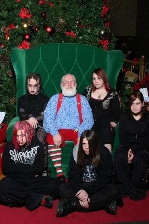 goth family christmas shot