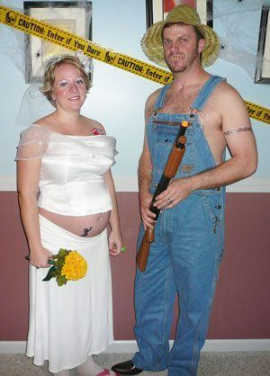 Hillbilly pregnancy husband and wife costume