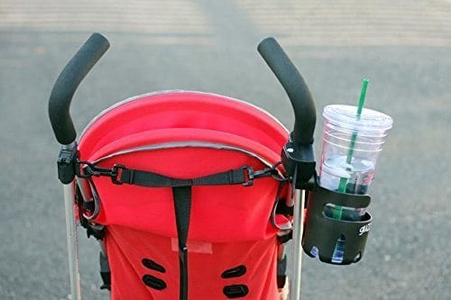 cup holder on red umbrella stroller