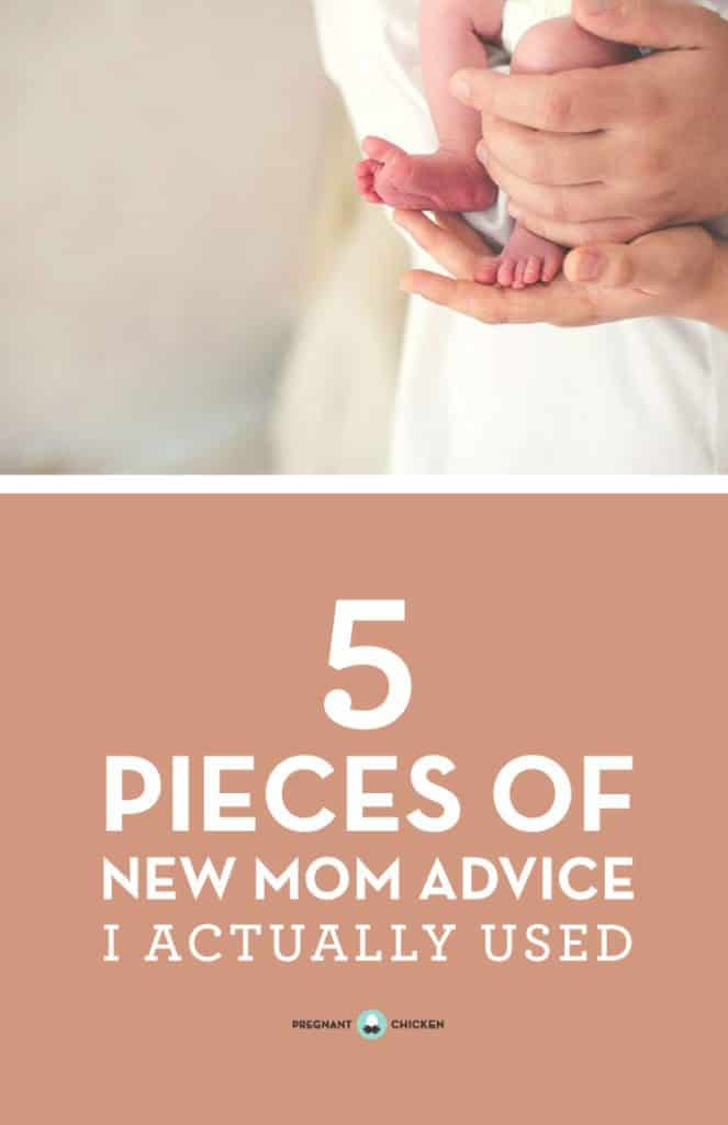 5 pieces of new mom advice that were actually useful. Save these tips for your new baby, postpartum survival kit! #humor #pregnancy #breastfeeding #encouragement