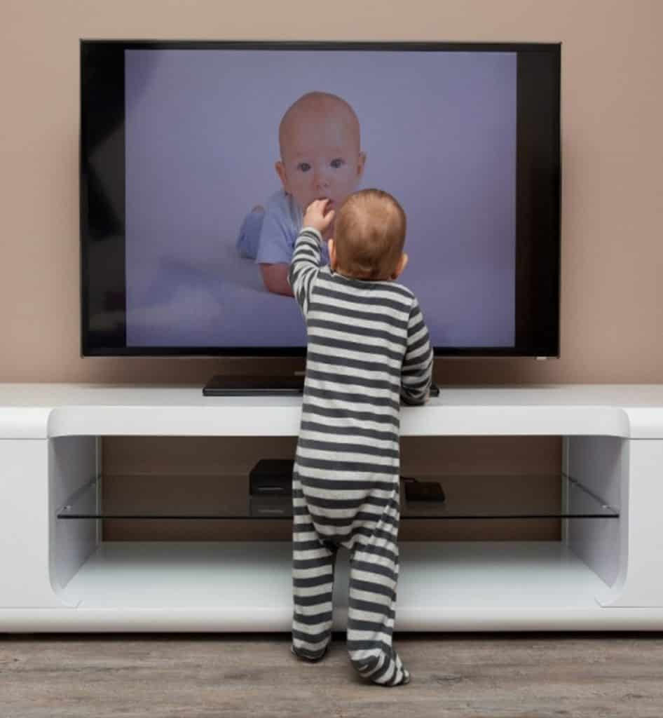Baby Proofing: Hang your TV on the wall, or strap it to the entertainment centre