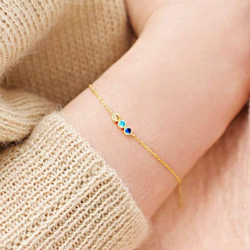 birthstone bracelet gift for grandma