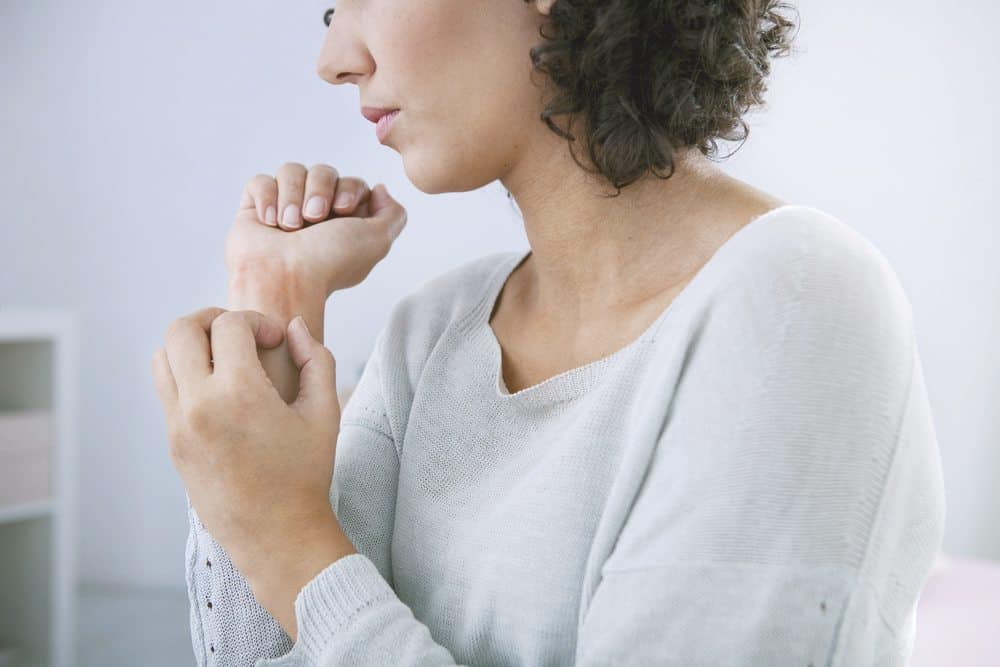 woman itching due to cholestasis