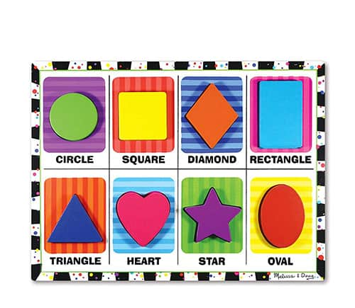 Melissa and doug shape sorting puzzle