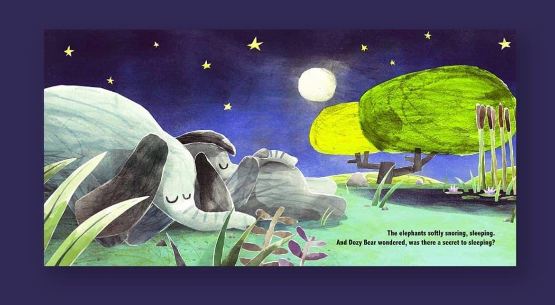 Dozy Bear, A children's book designed to help kids fall asleep.