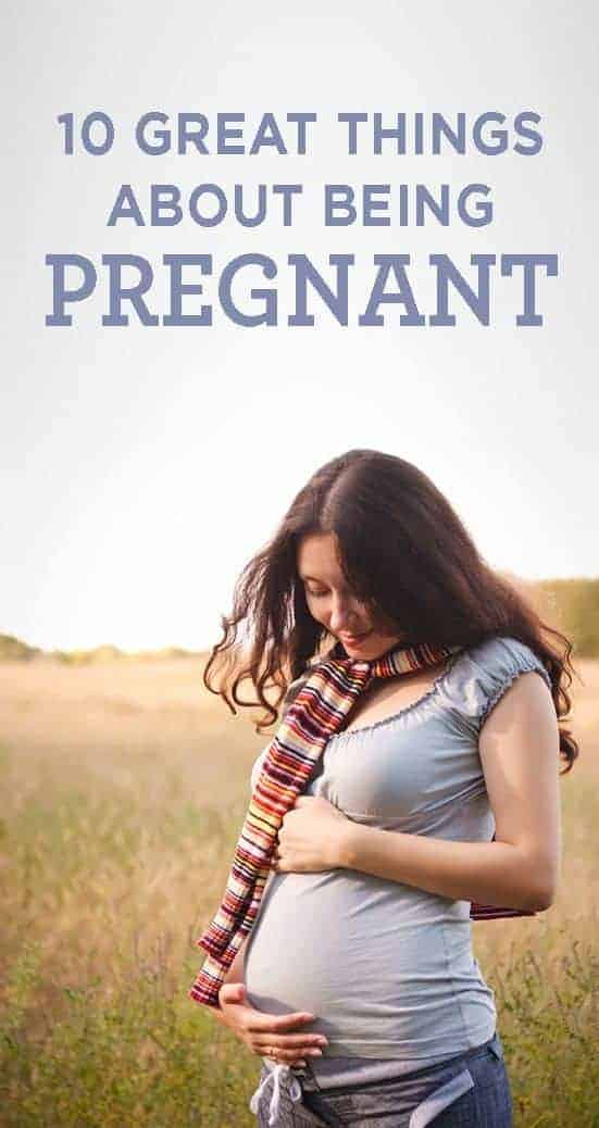 Photo of pregnant woman in a field - 10 great things about being pregnant