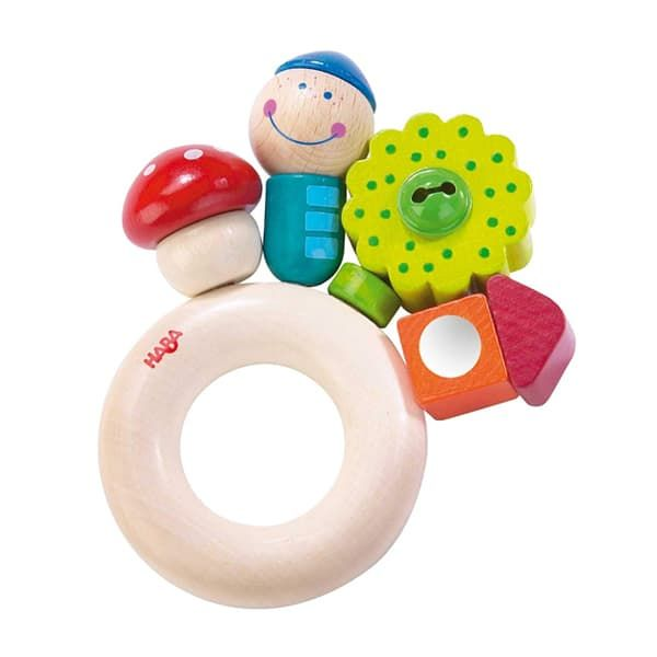 Manhattan Toys Skwish Rattle and Teether - wooden baby toys
