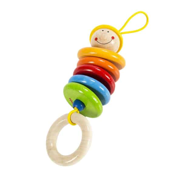 HABA Rattling Max This cute little rattle makes a clacking sound that babies love
