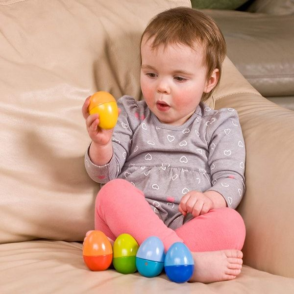 HABA Shakin Eggs (Set of 5) - wooden baby toys