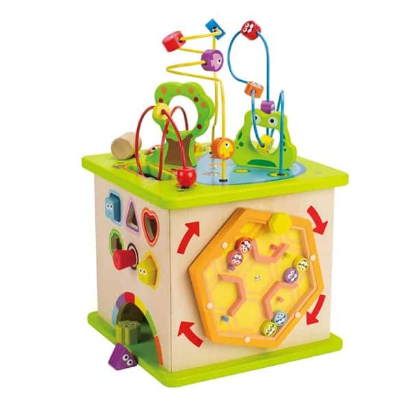 Hape Country Critters Wooden Activity Play Cube - wooden baby toys