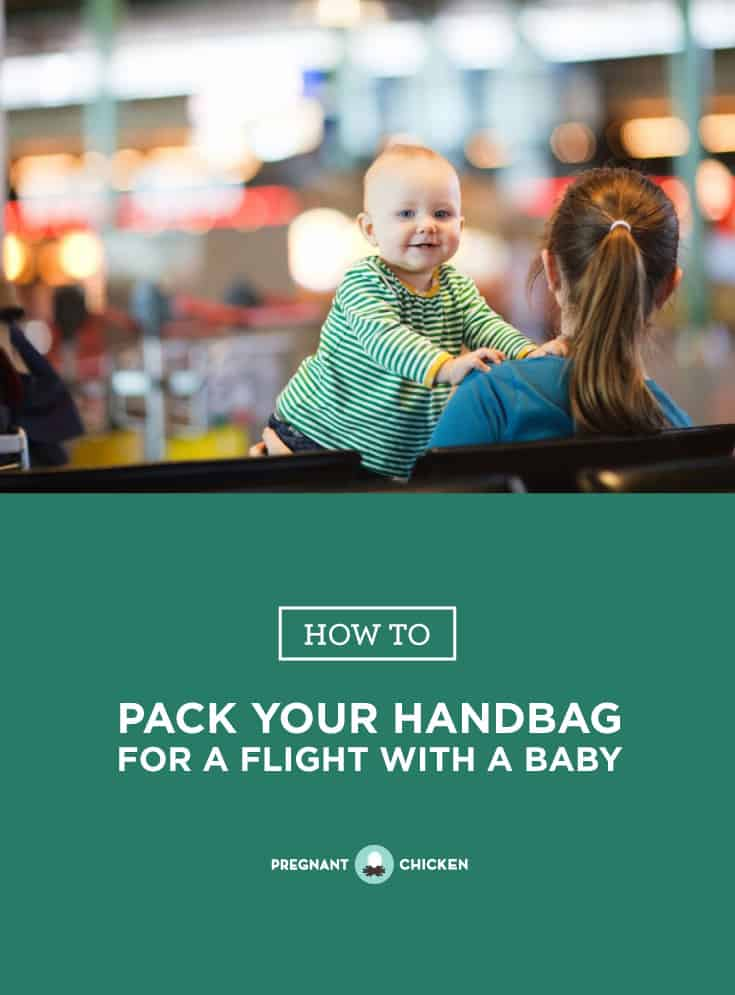 Preparing for a flight with your baby? Here's a list of things you can pack in your handbag or carry on that could help make the trip easier. #flightwithbaby #flyingwithbaby #howtotravelwithababy #newborntravel #tipsandtricksforflyingwithbaby #packingtips #newmomtravel
