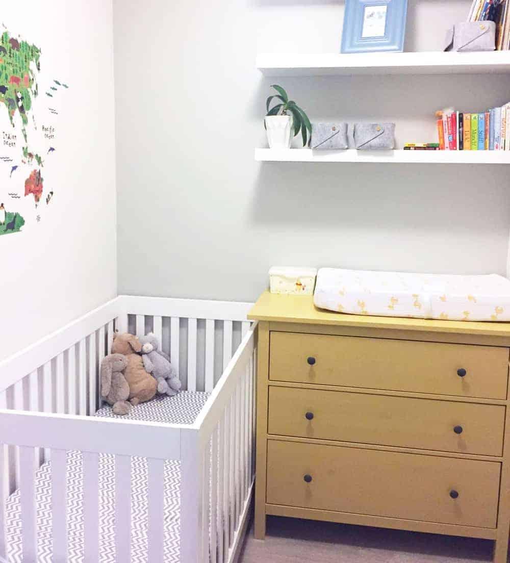 den converted to a nursery