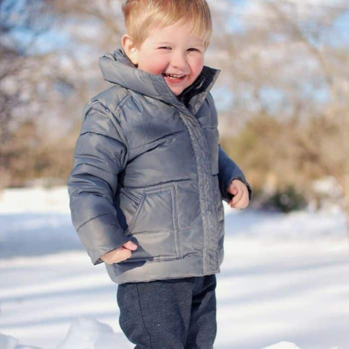 footprints + snowsuit + winter boots