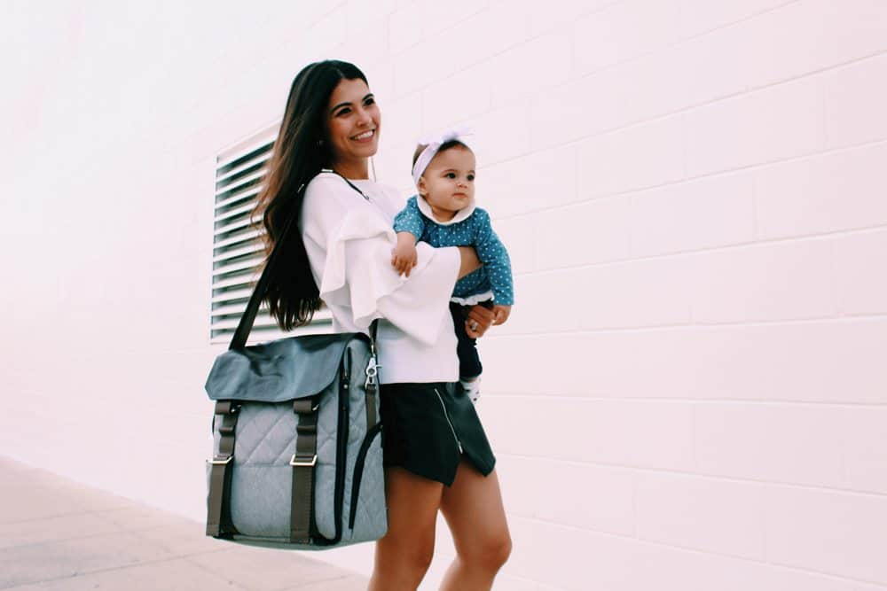 Stylish Paperclip diaper bag with a checklist of essentials. Can be worn as a backpack, crossbody, the best for mom OR dad.