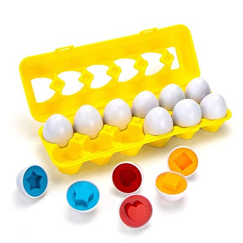 Color and shape egg puzzle