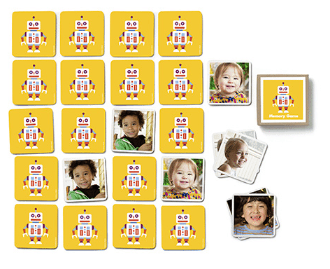 Looking for baby gift ideas? This custom memory game would make a great gift for a baby girl or baby boy