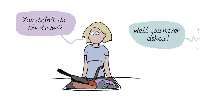 Comic depicting the mental load