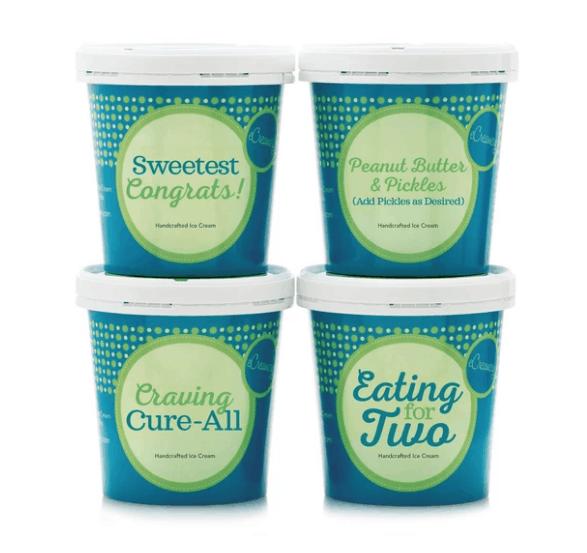four custom pregnancy ice creams