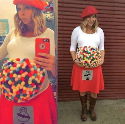 Gumball machine pregnancy Halloween costume