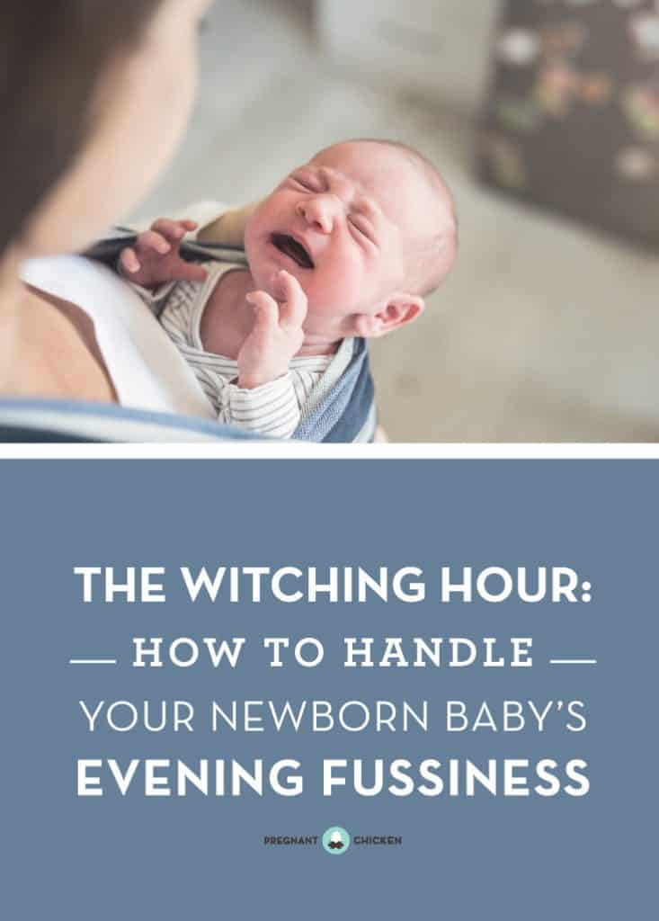 How to survive your baby's witching hour. Tips for handling your baby's evening fussiness. #newbaby #crying #witchinghour #newmomtips