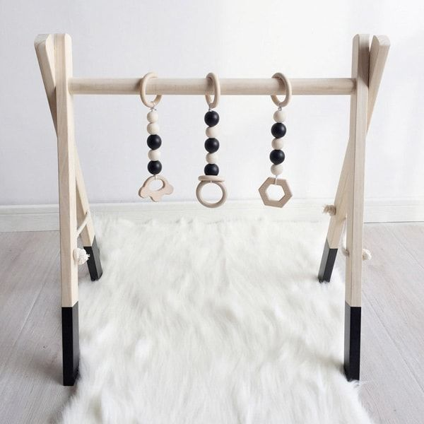 Wooden Activity Gym - wooden baby toys