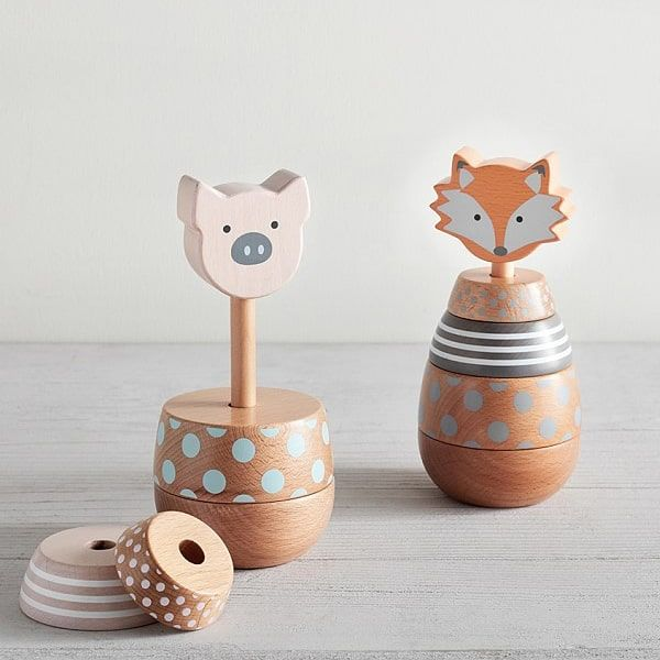 Woodland Baby Stackers - wooden baby toys