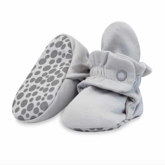 grey zutano baby booties