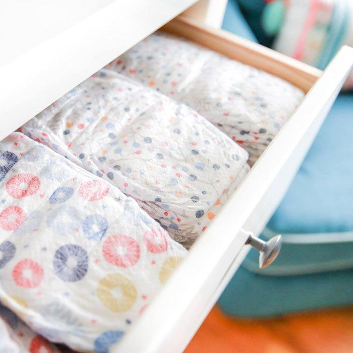 drawer of Abby&Finn diapers