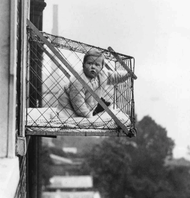 baby cage from the 1930s