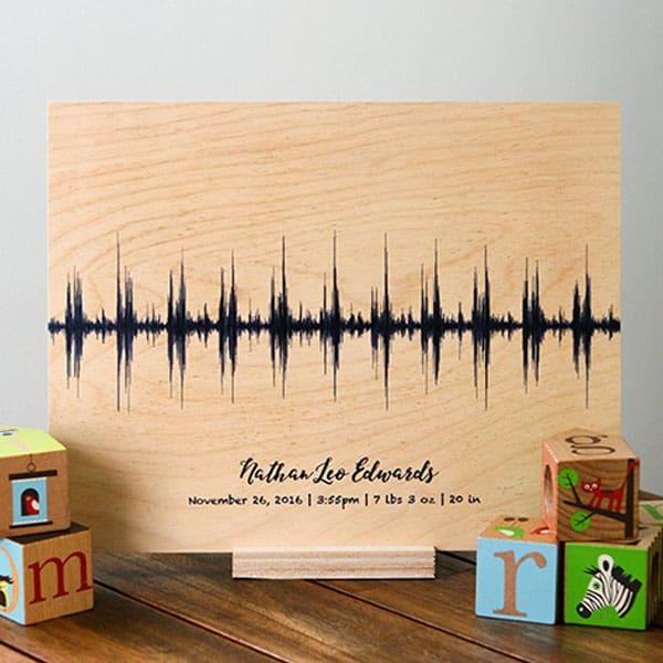 baby heartbeat custom sound print