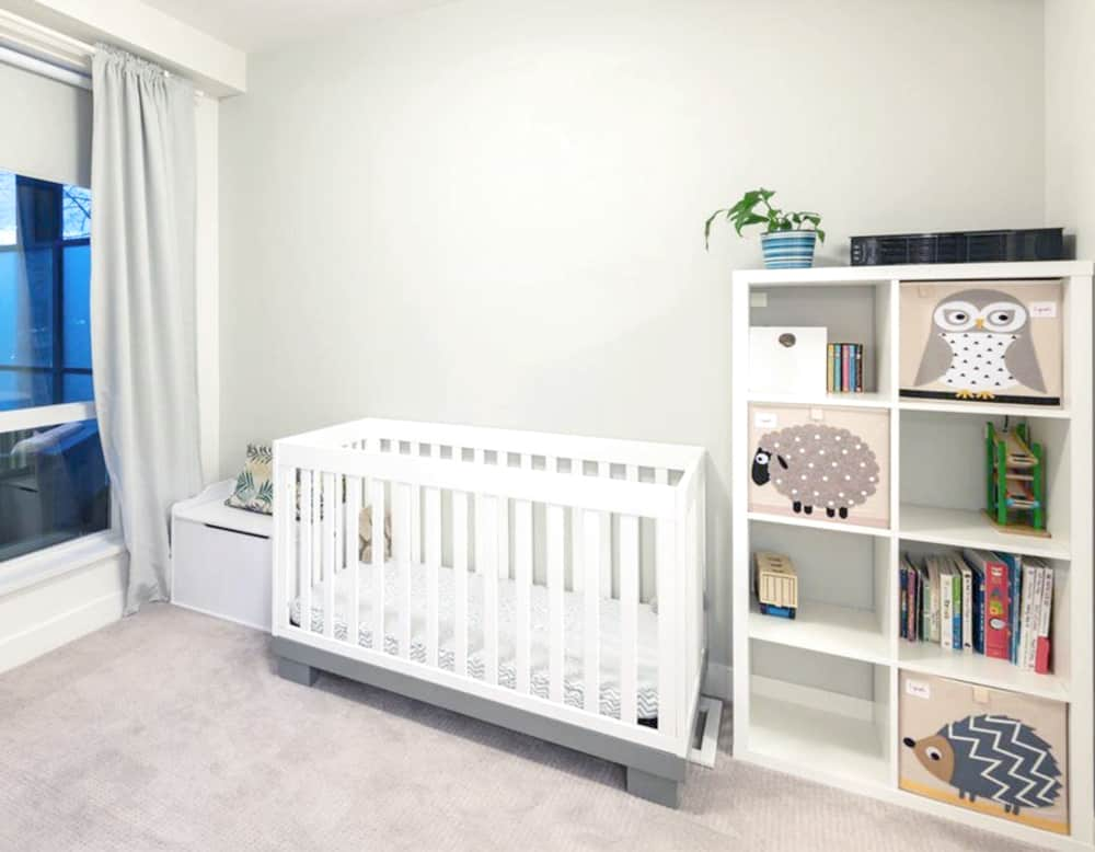 main bedroom converted to a nursery