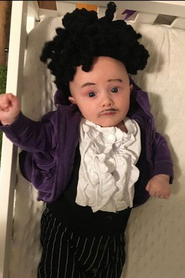 baby dressed as Prince for Halloween