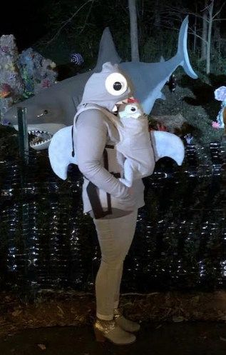 baby shark carrier baby halloween costume