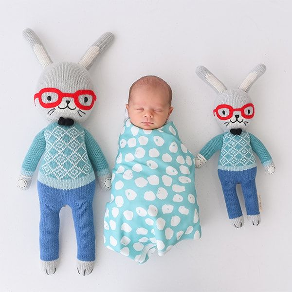 baby with benedict bunny gift that give to charity