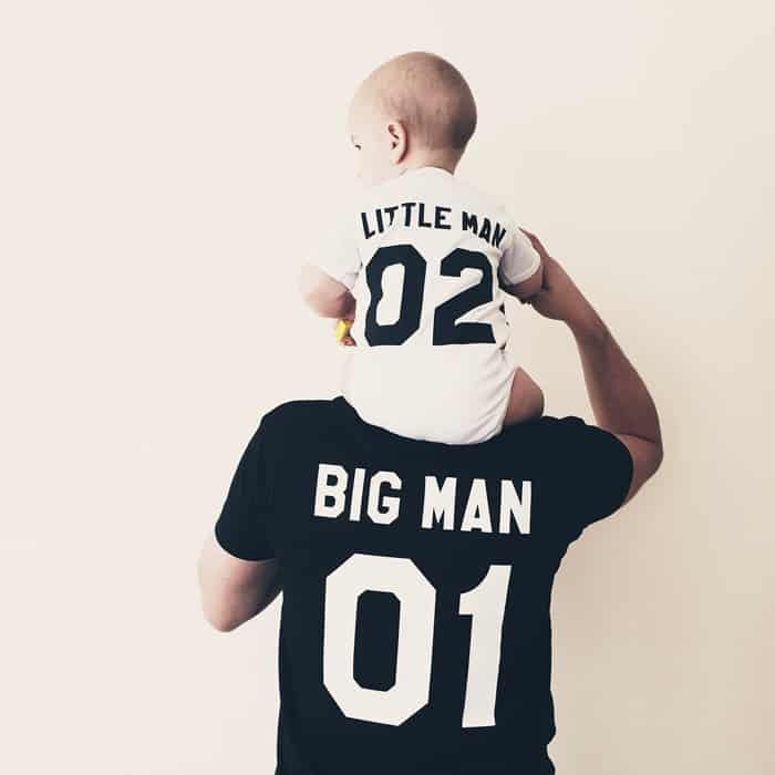 little man and big man father son set