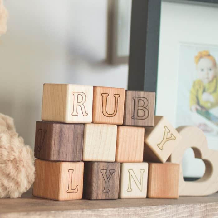 custom wooden baby blocks
