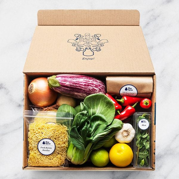 blue apron meal kit delivery service as a baby gift