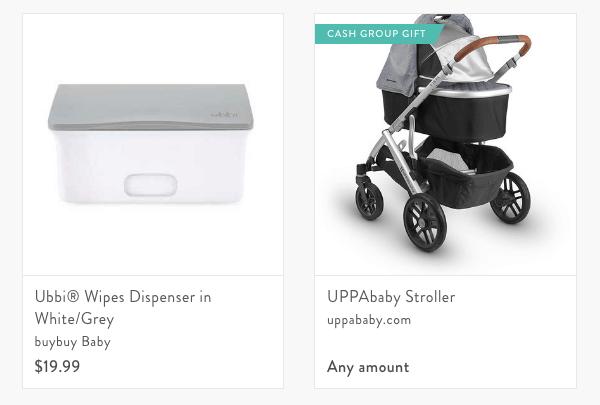 blueprint baby registry cash fund example