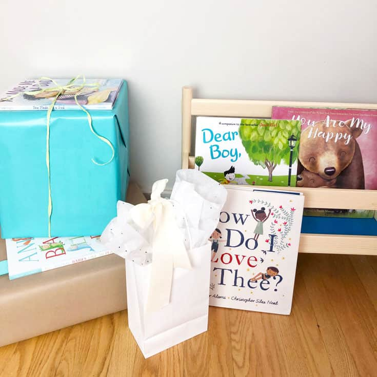 Recommended books for a bring a book baby shower theme, Dear Boy, Your Are My Happy and How Do I Love Thee?