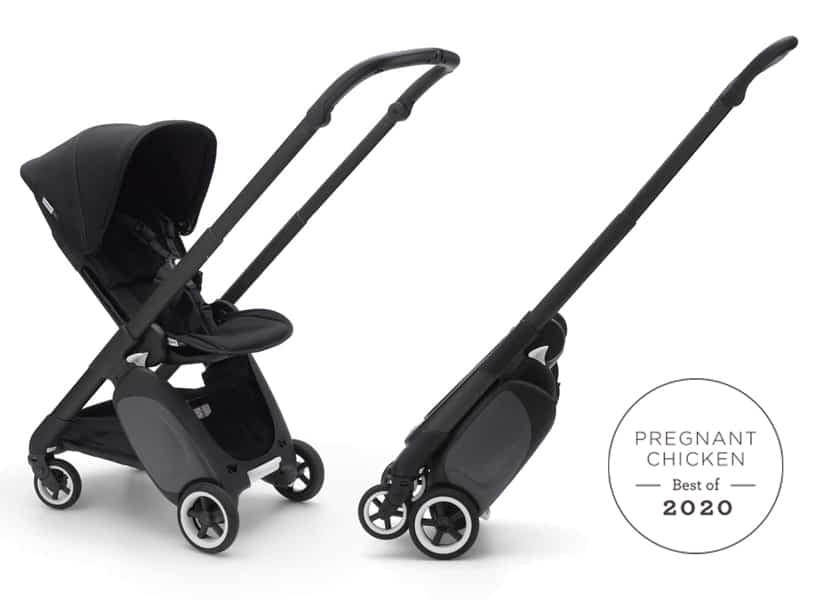 Bugaboo Ant stroller open and folded