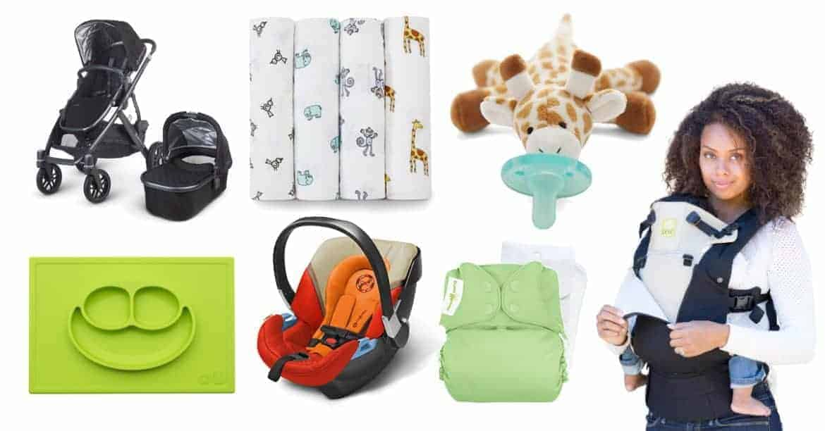 selection of baby items