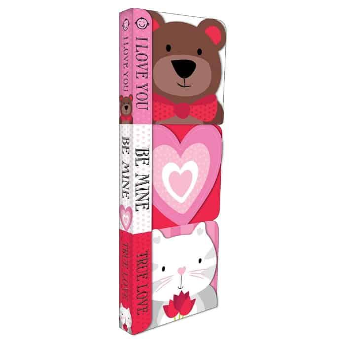three valentine's day baby board books