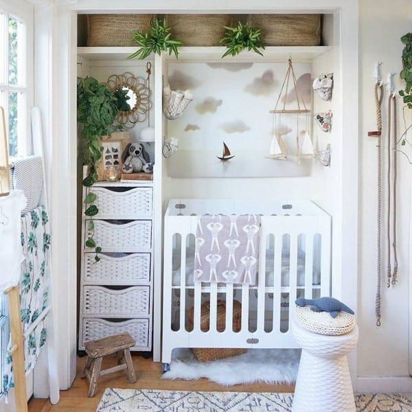 nursery nook created by repurposing closetnursery nook created by repurposing closet