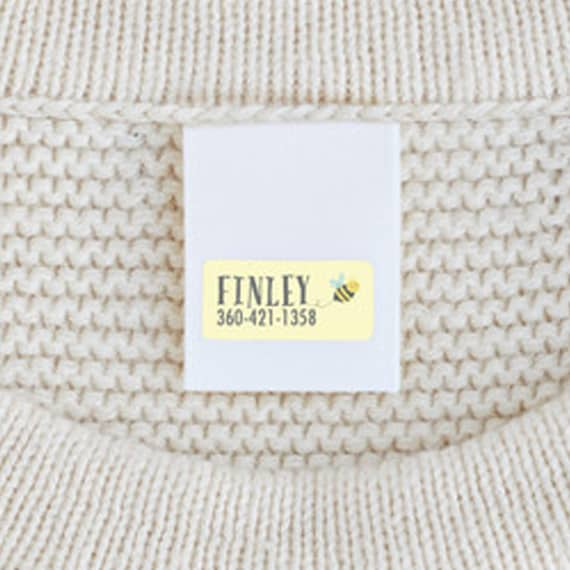 personalized clothing labels for a baby's first easter