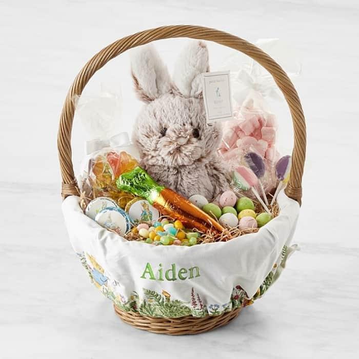 custom easter basket as a baby shower gift