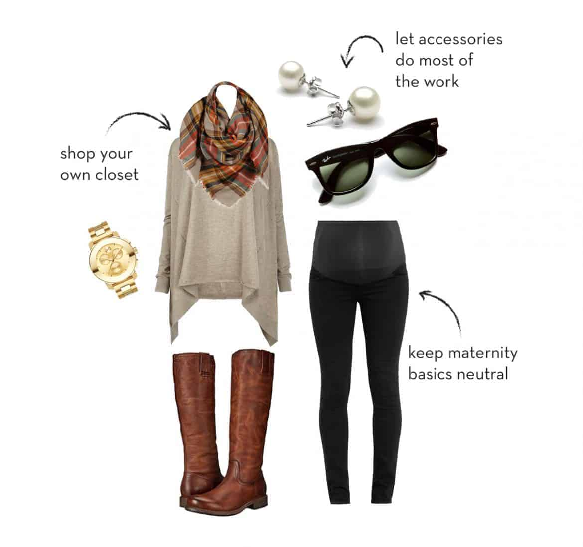 Great tips on building a kick ass maternity wardrobe that won't blow your budget. An essential clothing capsule for your pregnancy.