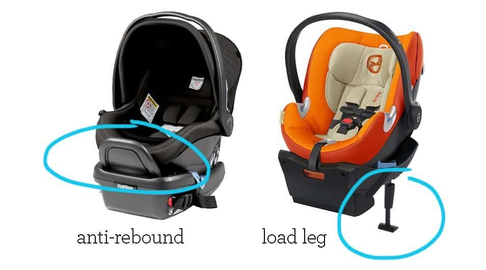 Find the best infant car seat with features like anti-rebound bars and load legs.
