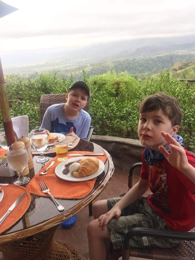 Breakfast buffet at The Springs – I think both boys consumed about a pound of bacon.