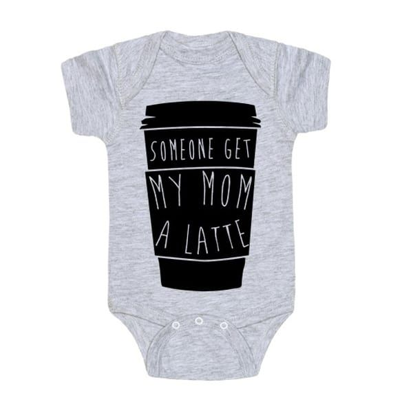 latte baby onesie