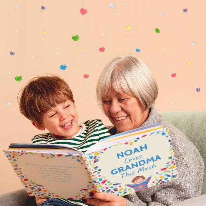grandmother ready custom grandma book to her grandson